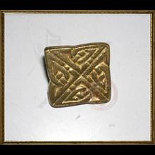 Celtic brass button - square