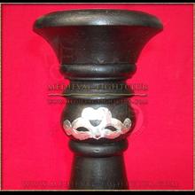 Black & silver candle holder